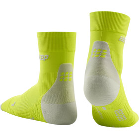 cep Short Socks 3.0 Homme, lime/light grey